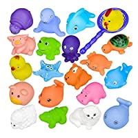 Set of 10 Different Animals Baby Bathing Toys Rubber Float Squeeze Sound Wash Bath Swim Dive Play Animals Toys