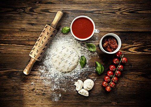 Baskischer Schäferhund, gravierter Nudelholz, für Kuchen und Kekse, Küchengerät, klein