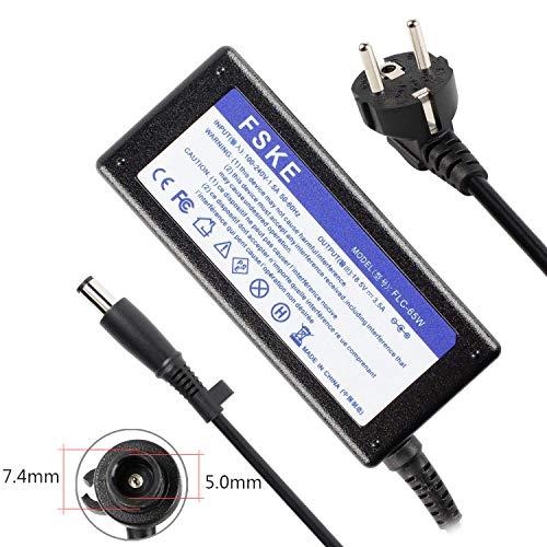 FSKE 65W 18.5V 3.5A Cargador Adaptador para HP PA-1650-02HC 463958-001 CQ42 Nc4400 CQ40 DV7 G62 DV4 Nc6400 G70 8510P 6730B 2510P 6735S Nc6320 6710B 6500 Notebook EUR Power Supply,7.4 * 5.0mm