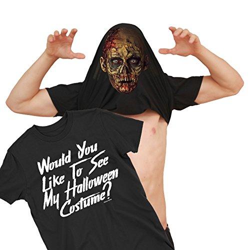 Herren Would You Like to See My Zombie Kostüm Untot Halloween Umdrehen T-Shirt
