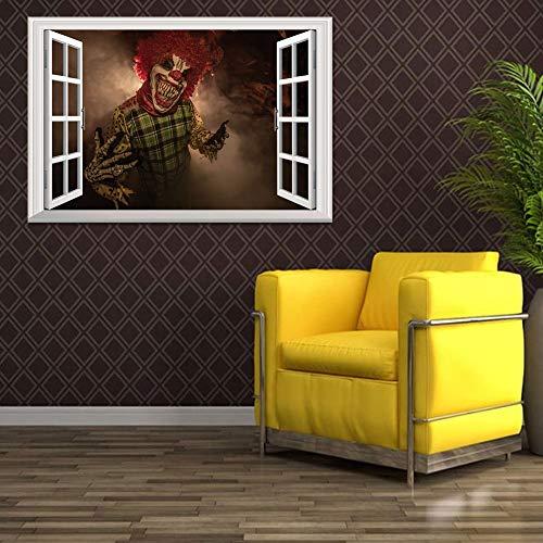 WANGZZZ Wandaufkleber Halloween Teufel Clown Aufkleber Wohnzimmer Schlafzimmer ()