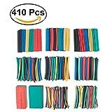 UEETEK 410Pcs Ensemble de tubes rétrécissables colorés...