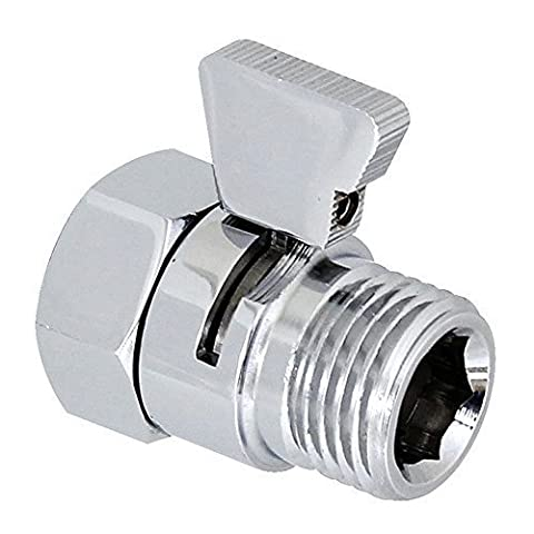 Homeself Brass Shower Head Flow Contol and Shut OFF Stop Switch Valve for Shower Head, Hand Shower, or Bidet Sprayer etc,Universal Replacement Part by