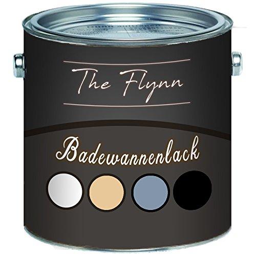 The Flynn, set di vernice di rivestimento per vasca da bagno, di alta qualità, nei colori bianco, grigio, nero e beige, a 2componenti, Beige