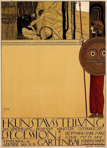 Poster 50 x 70 cm: Art exhibition Austria di Gustav Klimt - stampa artistica professionale, nuovo poster