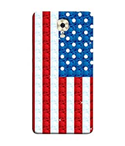 FUSON Designer Back Case Cover for Gionee M6 (United Stated Of America Flag Embroidered Stars)