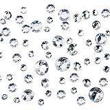 Pangda 5800 Stück Klar Hochzeit Kristalle 4 Größen Tisch Konfetti Dekoration Acryl Diamanten für Geburtstag Babydusche Party Tisch