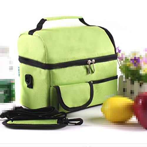 Outdoor La Protezione Ambientale A Perfetta Tenuta Facile Da Pulire Quadrato Borsa Per Il Picnic ,Purple Green
