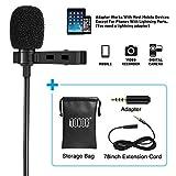 Tonor Microphone Cravate Micro Lavalier Omnidirectionnelle avec Système de Clip pour iPhone, Android et...