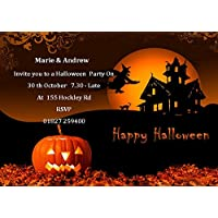 10 Personalised High Quality Halloween Party Invitations D1