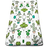 sd4r5y3hg Cactus Garden Botanical Succulent Green Cotton Bath Towels for Hotel-a-Pool-Gym-Bathroom - Super Soft Absorbent Ringun Towels