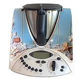 Autocollant vinyl adhésif pour Vorwerk Thermomix TM31 - Plage et Coquilles