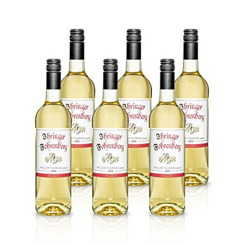 2015 Müller-Thurgau Halbtrocken Ihringer Fohrenberg | Weißwein aus Deutschland | Spritzig Feinherb im Geschmack, Paket mit:6 Flaschen