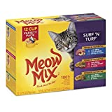Meow Mix Surf 'N Turf Cat Food Variety Pack, 2.75-Ounce, 48-Pack by Meow Mix