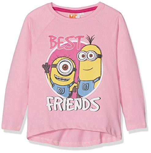 les minions Mädchen T-Shirt Gr. 4 Jahre, Rose (Prism PINK(14-2311 TCX) & Beetroot Purple(18-2143 TCX))