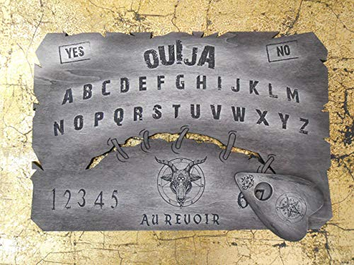 Plate Ouija Narbe Holzschnitt. Sitzung des Spiritismus.