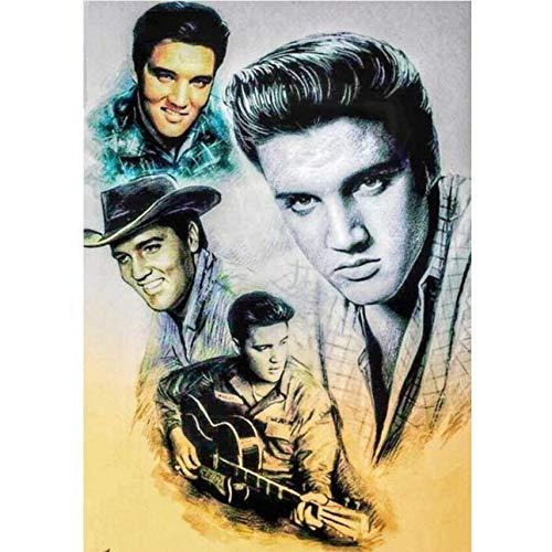 BulundFan 5d DIY Diamant malerei Elvis Presley kreuzstich malerei 5d Diamant Stickerei runde/quadratische Diamant mosaik Bilder, 50x65 cm