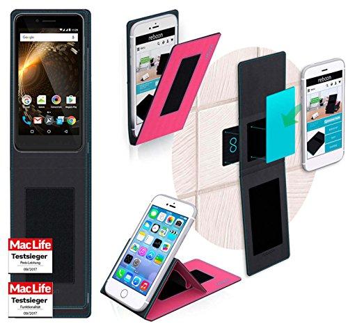 reboon Hülle für Allview P6 Energy Mini Tasche Cover Case Bumper | Pink | Testsieger