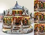 Banberry Designs Christmas Snow Village Fiber Optic House Log Cabin mountain Home Collectible 10' H x 10' W x 7' D Toy Store