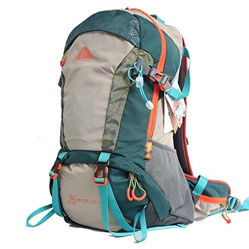HWLXBB Outdoor Bergsteigen Paket Männer und Frauen 30L Wasserdichte Mehrzweck-Bergsteigen Tasche Wandern Camping Bergsteigen Rucksack 3*