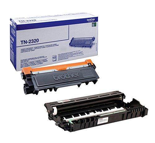 Preisvergleich Produktbild 1x Set Original Brother Toner TN2320 + Trommel DR2300 für Brother MFC-L 2740 DW - BLACK- Leistung ca. 2600 / 12000 Seiten bei 5% Seitenabdeckung