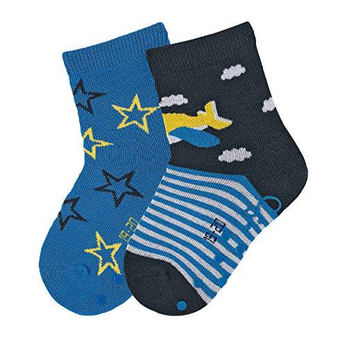 chen, Doppelpack, Flieger/Sterne-Motiv, Alter: 12-18 Monate, Größe: 19-20, Marine ()