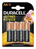 #5: Duracell Alkaline Battery AA with Duralock Technology (8 Pieces)