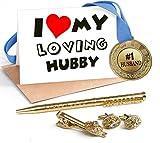 TiedRibbons Best gift for Valentine, Valentine Gift for Husband, Valentine special gift for Him Combo Pack(Golden Medal ,Golden cufflinks,Tie-pin,Stud best price on Amazon @ Rs. 899