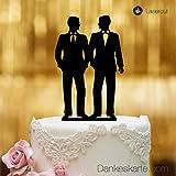 Dankeskarte.com Mr&Mr Moule à gâteau de Mariage Noir Taille XL
