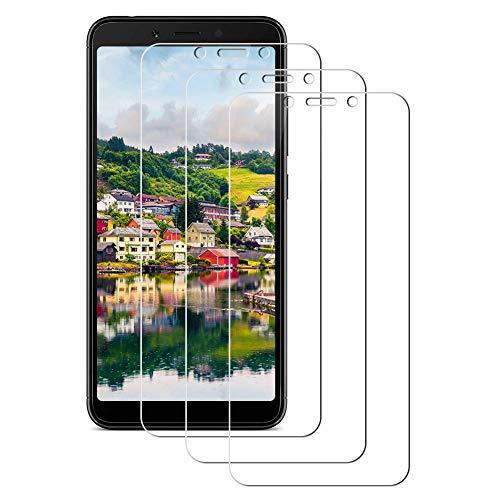 FULUWA 3-Unidades Cristal Templado para Xiaomi Redmi 6 / Xiaomi Redmi 6A [9H Dureza] Protector de Pantalla Alta Definicion Vidrio Templado para Móvil Xiaomi Redmi 6 / 6A