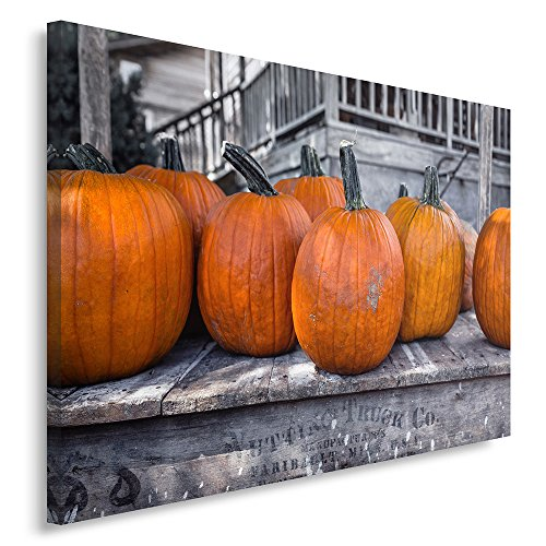Feeby Frames, Quadro pannelli, Pannello singolo, Quadro su tela, Stampa artistica, Canvas 40x50 cm, ZUCCA, ORTAGGIO, ORANGE, RUSTICO