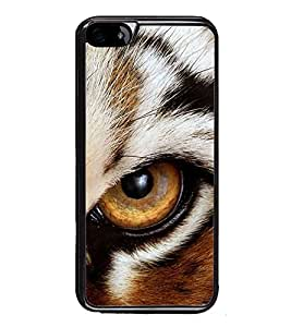 PrintVisa Designer Back Case Cover for Apple iPhone 6S (Tiger Half Head with one Eye)