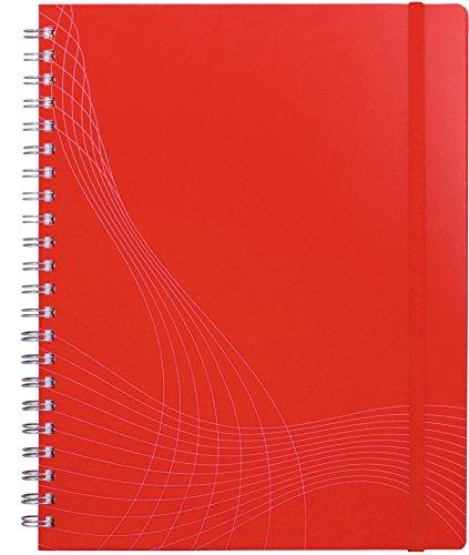 Preisvergleich Produktbild Avery Zweckform 7035 Notizbuch notizio (A4, Kunststoff-Cover, Doppelspirale, kariert, 90 g/m²) 90 Blatt, rot
