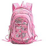 SellerFun® Kid Child Girl Flower Printed Waterproof Backpack School Bag(Pink,Small)