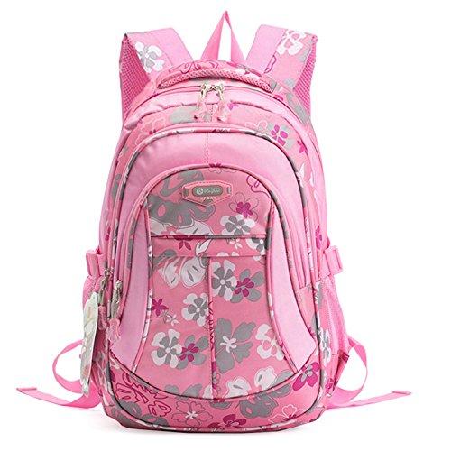 SellerFun® Kid Child Girl Flower Printed Waterproof Backpack School Bag(Pink,Small)