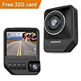 Dash Cam, Dual Lens Dash Cam with 32GB SD Card Included, FHD 1920x1080P