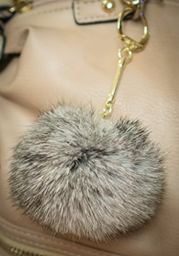 3-for-2-tinted-grey-8cm-gold-metal-clasp-keyring-pompom-keychain-ball-8cm-monster-soft-fluffy-charm-