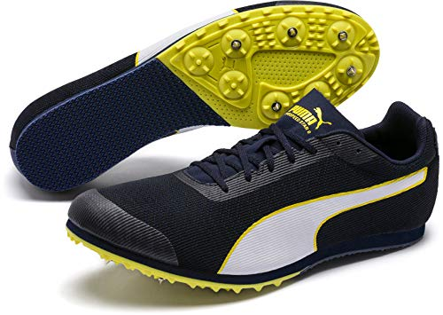 Puma Unisex-Kinder Evospeed Star 6 JUNIOR Leichtathletikschuhe Schwarz (Peacoat Black-Blazing Yellow 4), 37 EU