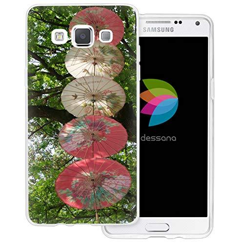 dessana China Kultur Transparente Schutzhülle Handy Case Cover Tasche für Samsung Galaxy A5 (2014-2015) Sonnenschirm