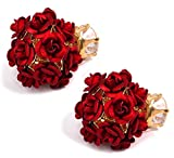 YouBella Jewellery Red Rose Shape Two Si...