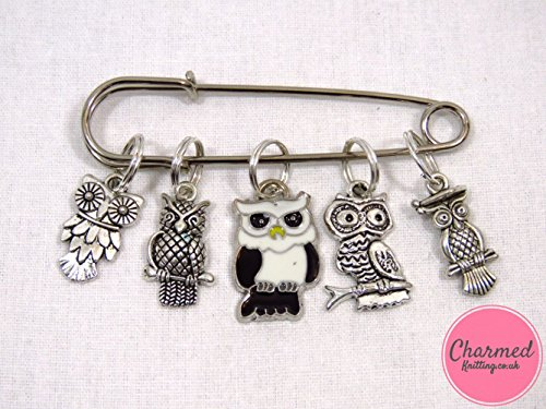 silver-and-enamel-owls-5-silver-knitting-stitch-markers