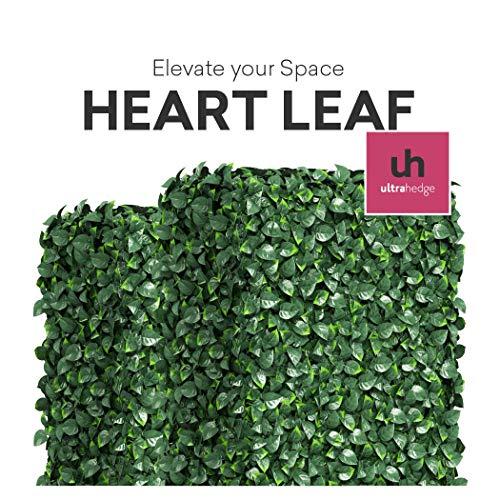he Hecke - Innen- und Außenbereich Zaun Sichtschutz Panels und Grün Wand Hintergrund Dekoration für Veranstaltungen 16 Pack Heart Leaf (Two-Tone) ()