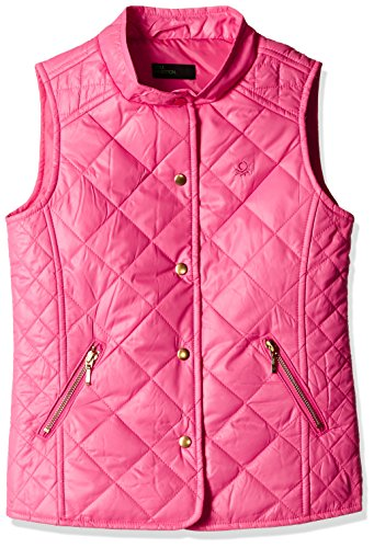 United Colors of Benetton Baby Girls' Jacket (16A2EO65G0U0IK270Y_Dark Pink_0Y)