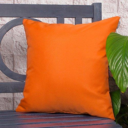 Komfort CO Outdoor Wasserdicht Faser gefüllt Garten Kissen für Stühle/Sitze und Bänke–Orange (Wasserdichte Outdoor Patio Kissen)