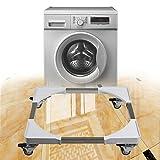 Waschmaschine Basis Einstellbare Einrad Waschmaschine Wagen Verdickte Vierkant-Rohr Edelstahl Kühlschrank Beweglichen Basis,4singlebrakewheel