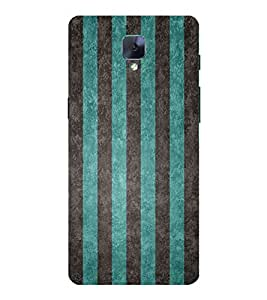 Line Pattern 3D Hard Polycarbonate Designer Back Case Cover for OnePlus 3 :: OnePlus Three