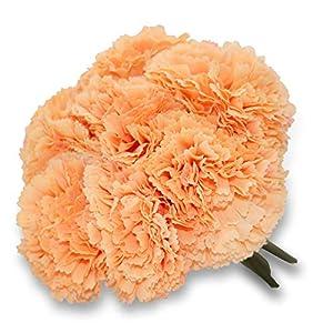 Ramo de flores artificiales de clavel de 23 cm, 8 unidades en 1, decoración para el hogar o el jardín, Amarillo, 20*23
