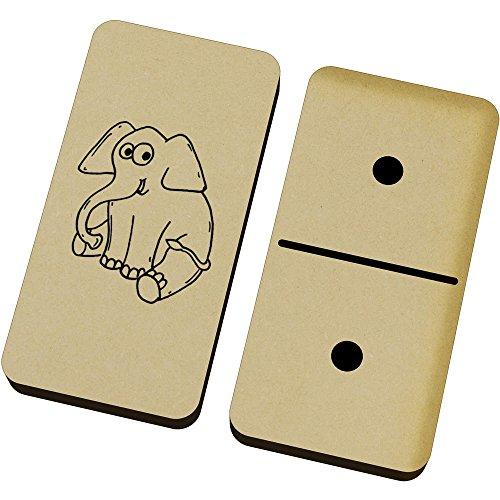 Azeeda 'Bebé Elefante' Domino Juego y Caja (DM00011614)