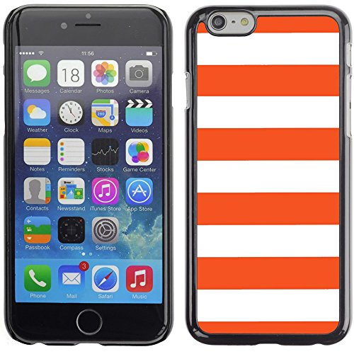Graphic4You Color Stripes Pattern Design Hard Case Cover for Apple iPhone 6 Plus (Aqua Blue) Orange