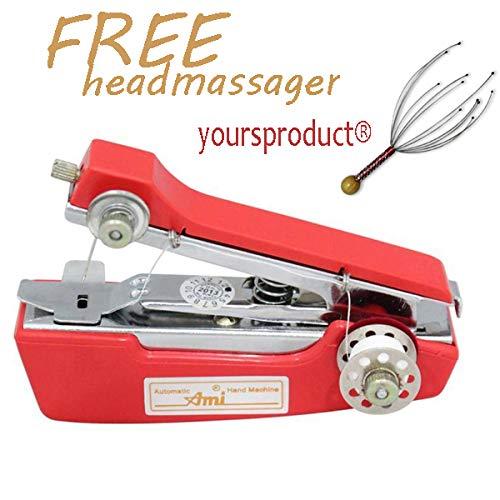Ami® Mini Hand Sewing mechine/Portable Sewing Machine/Stapler Sewing Machine (Red...